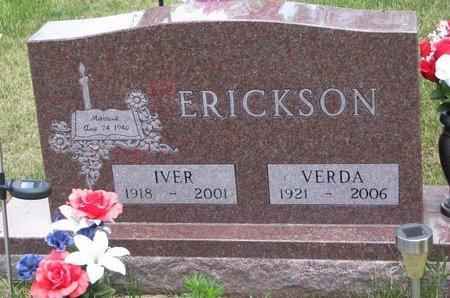 ERICKSON, IVER - Turner County, South Dakota   IVER ERICKSON - South Dakota Gravestone Photos