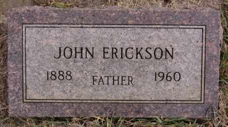 ERICKSON, JOHN - Turner County, South Dakota | JOHN ERICKSON - South Dakota Gravestone Photos