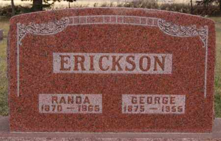 ERICKSON, GEORGE - Turner County, South Dakota | GEORGE ERICKSON - South Dakota Gravestone Photos