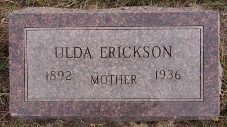 ERICKSON, ULDA - Turner County, South Dakota | ULDA ERICKSON - South Dakota Gravestone Photos