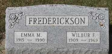 FREDERICKSON, WILBUR F - Turner County, South Dakota | WILBUR F FREDERICKSON - South Dakota Gravestone Photos