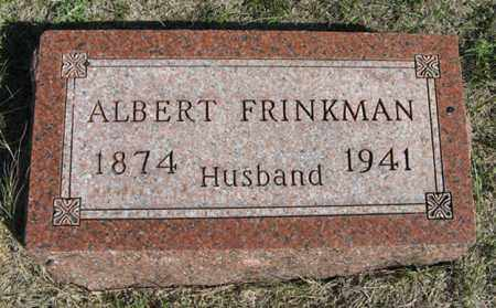 FRINKMAN, ALBERT - Turner County, South Dakota   ALBERT FRINKMAN - South Dakota Gravestone Photos