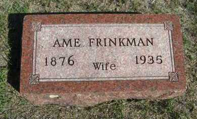 FRINKMAN, AME - Turner County, South Dakota | AME FRINKMAN - South Dakota Gravestone Photos