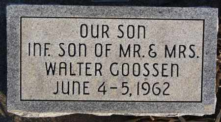 GOOSSEN, INFANT SON - Turner County, South Dakota | INFANT SON GOOSSEN - South Dakota Gravestone Photos