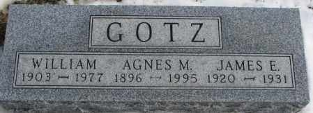 GOTZ, AGNES M. - Turner County, South Dakota   AGNES M. GOTZ - South Dakota Gravestone Photos