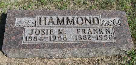 HAMMOND, FRANK N. - Turner County, South Dakota | FRANK N. HAMMOND - South Dakota Gravestone Photos
