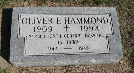 HAMMOND, OLIVER F. - Turner County, South Dakota | OLIVER F. HAMMOND - South Dakota Gravestone Photos