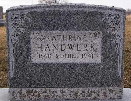 HANDWERK, KATHRINE - Turner County, South Dakota | KATHRINE HANDWERK - South Dakota Gravestone Photos