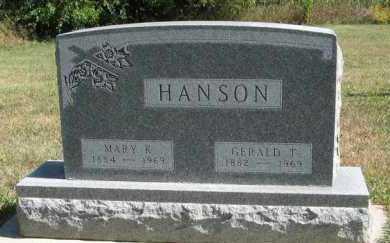 HANSON, GERALD T. - Turner County, South Dakota | GERALD T. HANSON - South Dakota Gravestone Photos