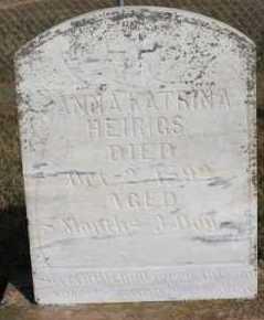 HEIRIGS, ANNA KATRINA - Turner County, South Dakota | ANNA KATRINA HEIRIGS - South Dakota Gravestone Photos