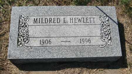 HEWLETT, MILDRED L. - Turner County, South Dakota | MILDRED L. HEWLETT - South Dakota Gravestone Photos