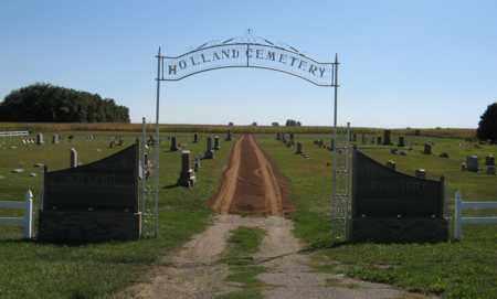 *HOLLAND CEMETERY, ENTRANCE - Turner County, South Dakota | ENTRANCE *HOLLAND CEMETERY - South Dakota Gravestone Photos