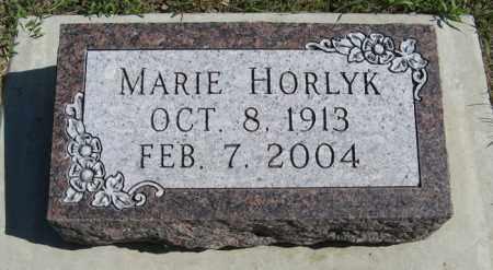 HORLYK, MARIE - Turner County, South Dakota   MARIE HORLYK - South Dakota Gravestone Photos
