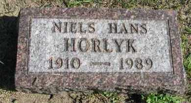 HORLYK, NIELS HANS - Turner County, South Dakota | NIELS HANS HORLYK - South Dakota Gravestone Photos