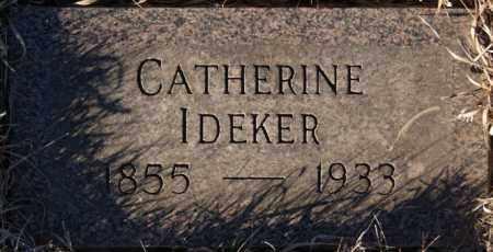 IDEKER, CATHERINE - Turner County, South Dakota | CATHERINE IDEKER - South Dakota Gravestone Photos