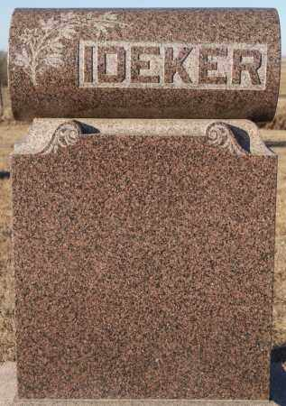 IDEKER, FAMILY MARKER - Turner County, South Dakota | FAMILY MARKER IDEKER - South Dakota Gravestone Photos