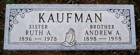 KAUFMAN, ANDREW A - Turner County, South Dakota | ANDREW A KAUFMAN - South Dakota Gravestone Photos