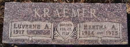 KRAEMER, BERTHA A - Turner County, South Dakota | BERTHA A KRAEMER - South Dakota Gravestone Photos