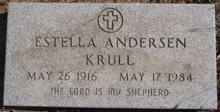 ANDERSEN KRULL, ESTELLA - Turner County, South Dakota | ESTELLA ANDERSEN KRULL - South Dakota Gravestone Photos