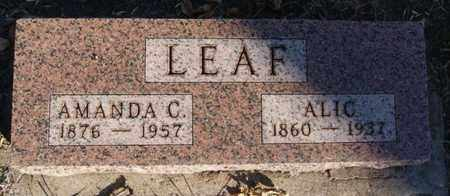 LEAF, AMANDA C - Turner County, South Dakota   AMANDA C LEAF - South Dakota Gravestone Photos