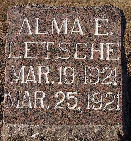 LETSCHE, ALMA E - Turner County, South Dakota | ALMA E LETSCHE - South Dakota Gravestone Photos