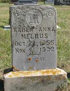 MELHUS, KAREN ANNA - Turner County, South Dakota | KAREN ANNA MELHUS - South Dakota Gravestone Photos