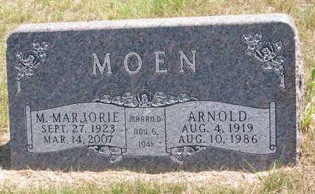 MOEN, ARNOLD - Turner County, South Dakota   ARNOLD MOEN - South Dakota Gravestone Photos