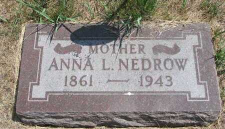NEDROW, ANNA L. - Turner County, South Dakota | ANNA L. NEDROW - South Dakota Gravestone Photos