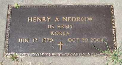 NEDROW, HENRY A. - Turner County, South Dakota   HENRY A. NEDROW - South Dakota Gravestone Photos
