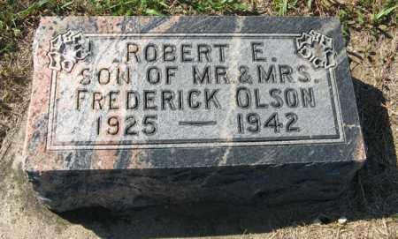 OLSON, ROBERT E. - Turner County, South Dakota   ROBERT E. OLSON - South Dakota Gravestone Photos