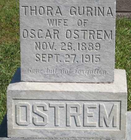 OSTREM, THORA GURINA (CLOSEUP) - Turner County, South Dakota | THORA GURINA (CLOSEUP) OSTREM - South Dakota Gravestone Photos