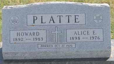 PLATTE, HOWARD - Turner County, South Dakota | HOWARD PLATTE - South Dakota Gravestone Photos