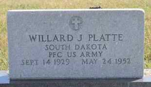 PLATTE, WILLARD J (MILITARY) - Turner County, South Dakota   WILLARD J (MILITARY) PLATTE - South Dakota Gravestone Photos