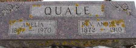 QUALE, ANDREW (REVEREND) - Turner County, South Dakota | ANDREW (REVEREND) QUALE - South Dakota Gravestone Photos