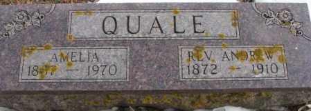 QUALE, AMELIA - Turner County, South Dakota | AMELIA QUALE - South Dakota Gravestone Photos