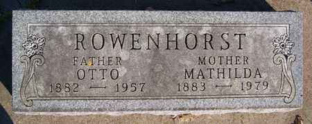 ROWENHORST, MATHILDA - Turner County, South Dakota | MATHILDA ROWENHORST - South Dakota Gravestone Photos