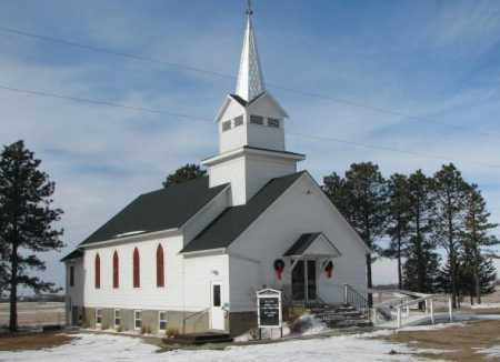 ***SALEM LUTHERAN, CHURCH VIEW - Turner County, South Dakota | CHURCH VIEW ***SALEM LUTHERAN - South Dakota Gravestone Photos