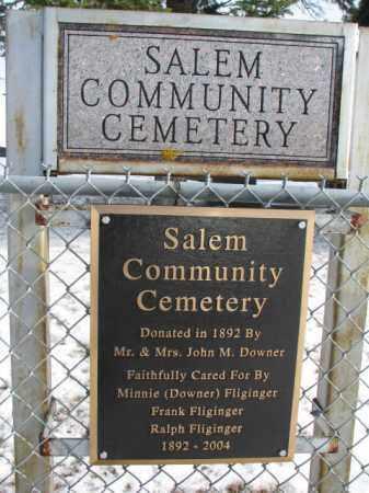 **SALEM COMMUNITY, FRONT GATE SIGNS - Turner County, South Dakota | FRONT GATE SIGNS **SALEM COMMUNITY - South Dakota Gravestone Photos