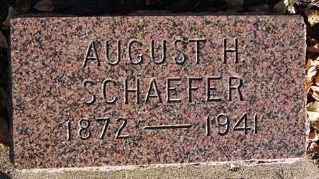 SCHAEFER, AUGUST H - Turner County, South Dakota | AUGUST H SCHAEFER - South Dakota Gravestone Photos