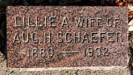 SCHAEFER, LILLIE A - Turner County, South Dakota | LILLIE A SCHAEFER - South Dakota Gravestone Photos