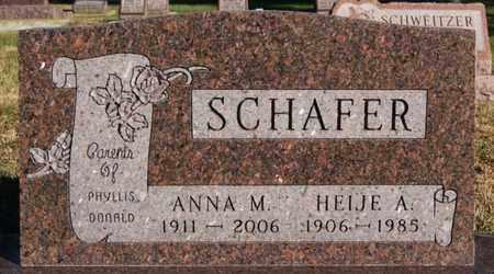 SCHAFER, HEIJE A - Turner County, South Dakota | HEIJE A SCHAFER - South Dakota Gravestone Photos