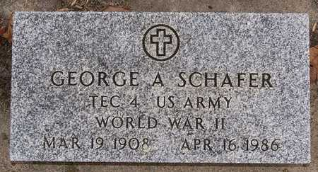 SCHAFER, GEORGE A (WWII) - Turner County, South Dakota | GEORGE A (WWII) SCHAFER - South Dakota Gravestone Photos