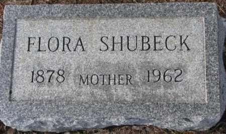 SHUBECK, FLORA - Turner County, South Dakota | FLORA SHUBECK - South Dakota Gravestone Photos