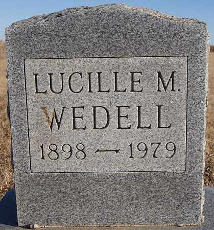 WEDELL, LUCILLE M - Turner County, South Dakota | LUCILLE M WEDELL - South Dakota Gravestone Photos