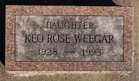 WEEGAR, KEO ROSE - Turner County, South Dakota | KEO ROSE WEEGAR - South Dakota Gravestone Photos