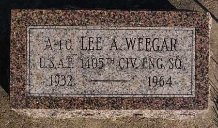 WEEGAR, LEE A (MILITARY) - Turner County, South Dakota | LEE A (MILITARY) WEEGAR - South Dakota Gravestone Photos