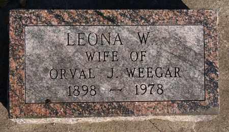 WEEGAR, LEONA W - Turner County, South Dakota | LEONA W WEEGAR - South Dakota Gravestone Photos