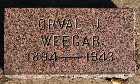 WEEGAR, ORVAL J - Turner County, South Dakota | ORVAL J WEEGAR - South Dakota Gravestone Photos