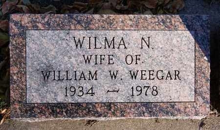 WEEGAR, WILMA N - Turner County, South Dakota | WILMA N WEEGAR - South Dakota Gravestone Photos