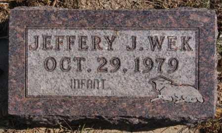 WEK, JEFFERY J. - Turner County, South Dakota | JEFFERY J. WEK - South Dakota Gravestone Photos